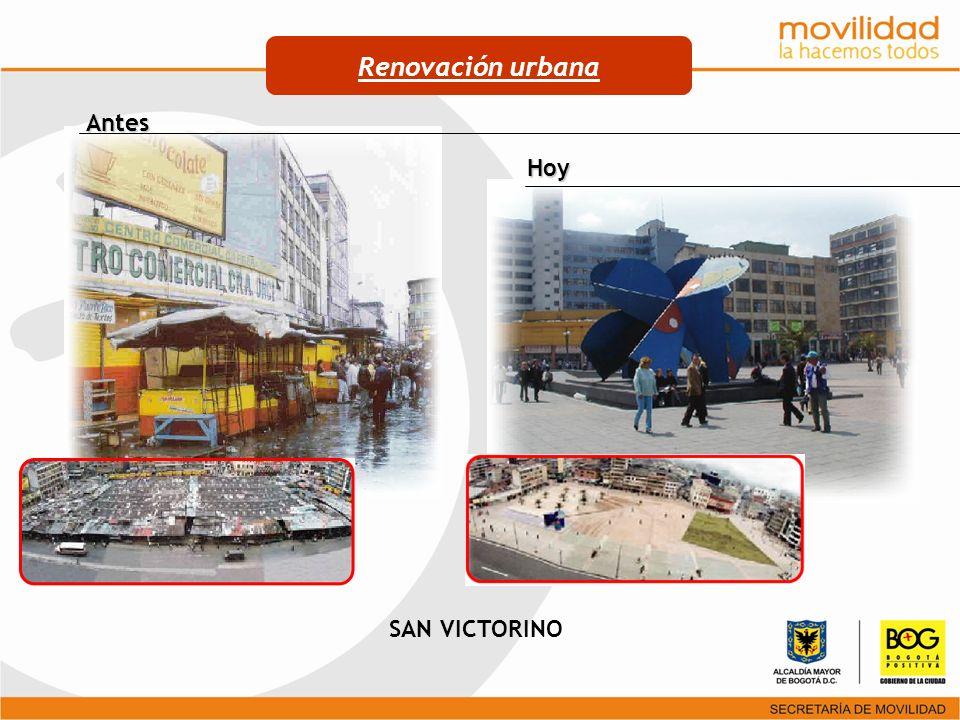 SAN VICTORINO Antes Hoy Renovación urbana