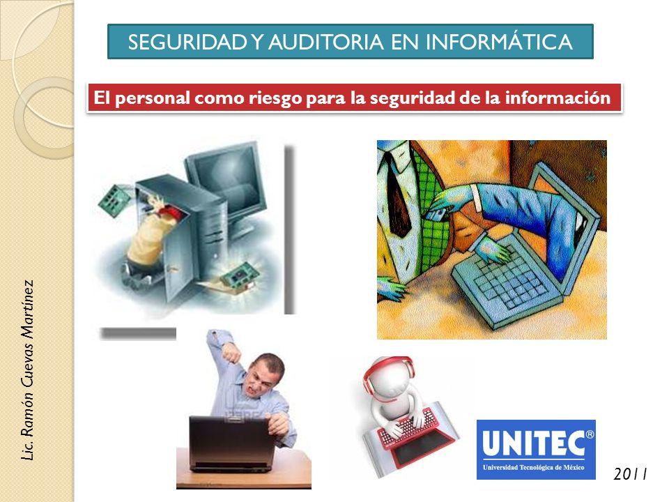 SEGURIDAD Y AUDITORIA EN INFORMÁTICA Lic.