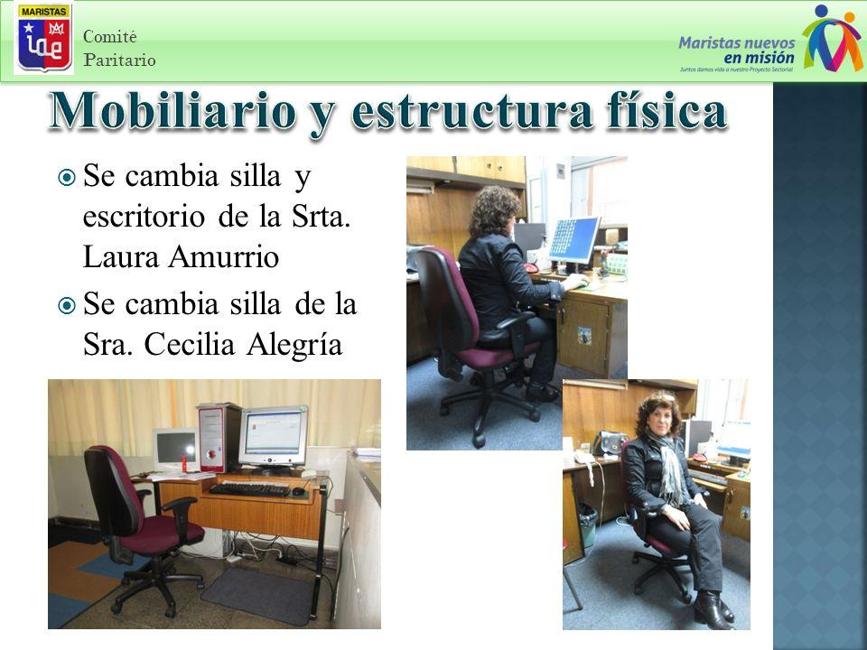 Comité Paritario Se cambia silla y escritorio de la Srta.
