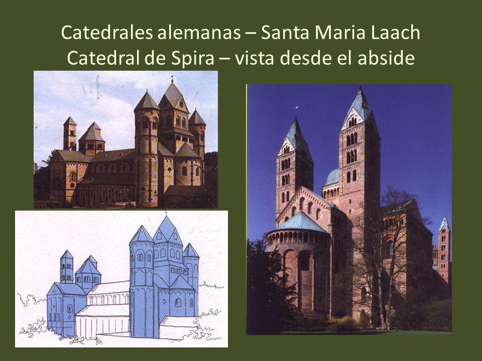 Catedrales alemanas – Santa Maria Laach Catedral de Spira – vista desde el abside