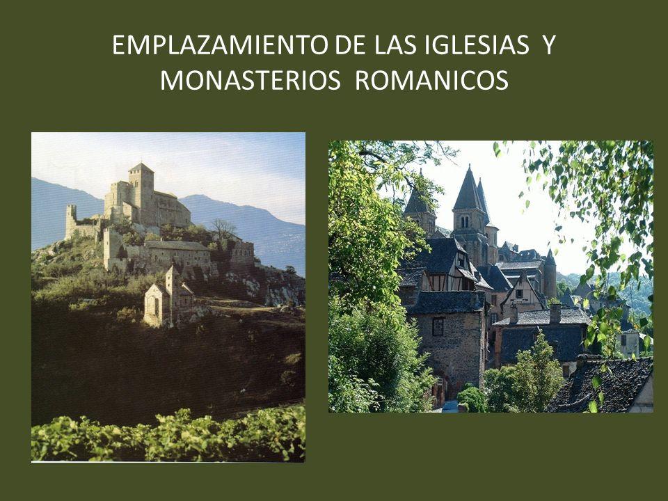 EMPLAZAMIENTO DE LAS IGLESIAS Y MONASTERIOS ROMANICOS
