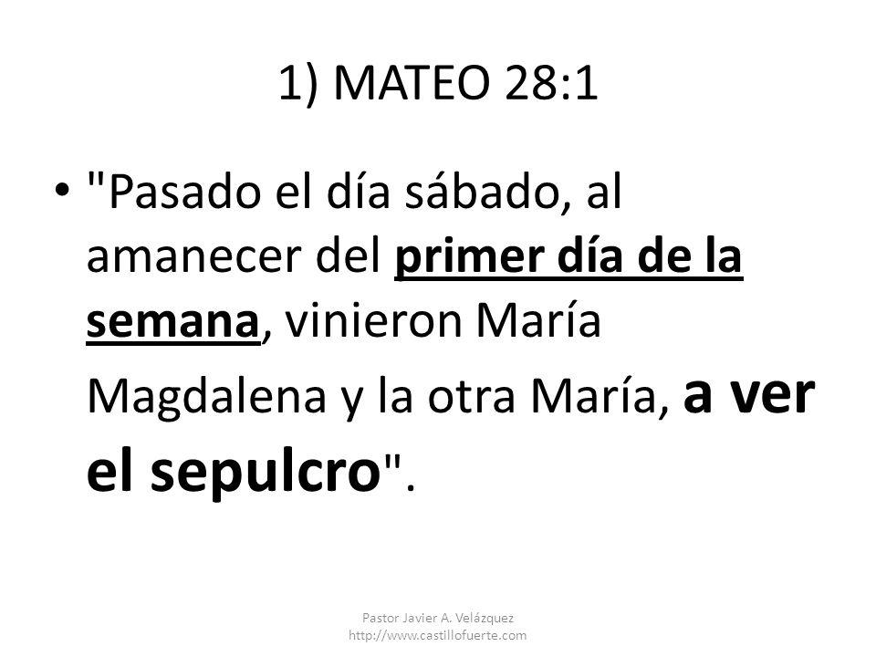 1) MATEO 28:1
