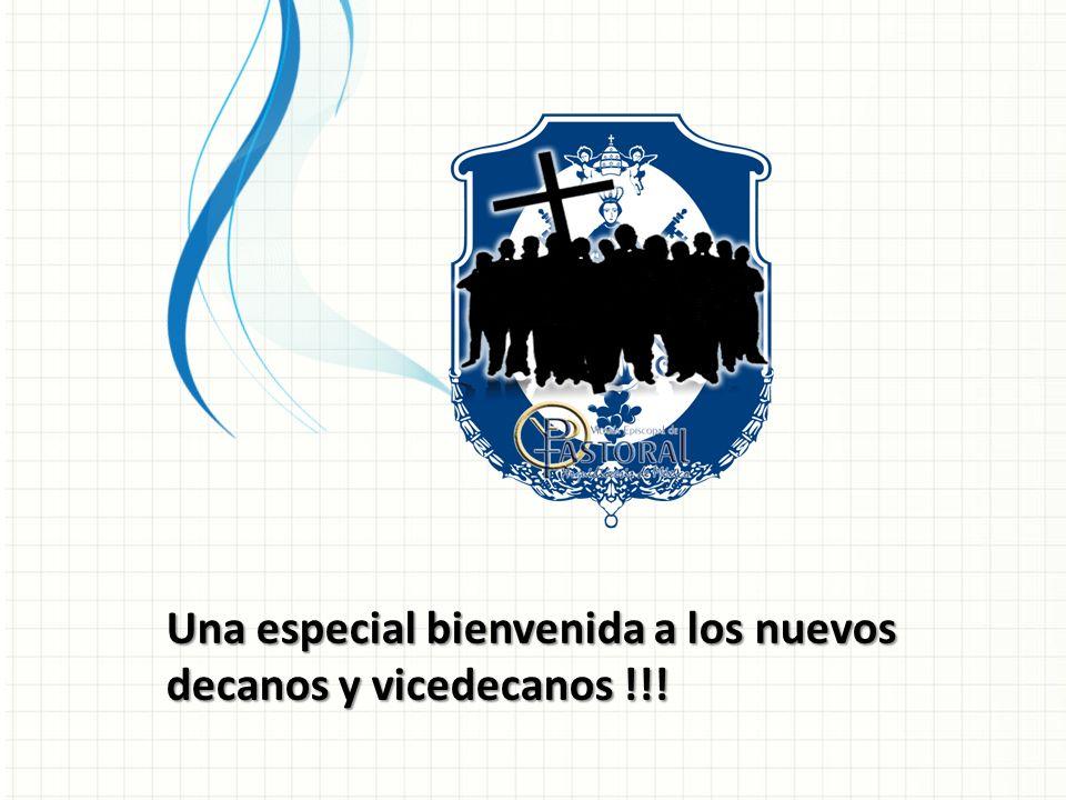 Una especial bienvenida a los nuevos decanos y vicedecanos !!!