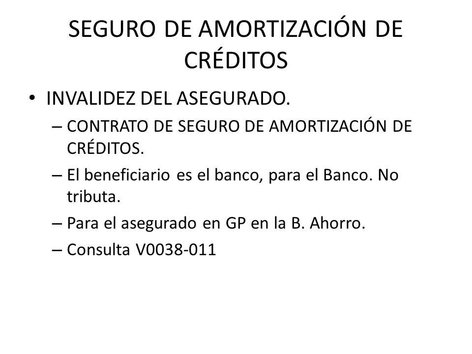 SEGURO AMORTIZACIÓN DE CRÉDITOS DESEMPLEO.Beneficiario.