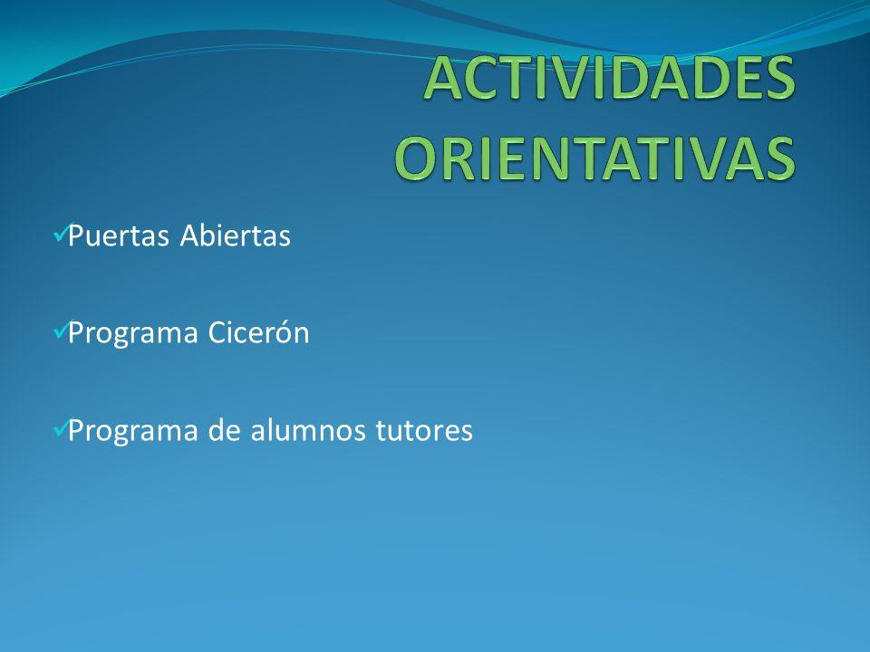 Puertas Abiertas Programa Cicerón Programa de alumnos tutores