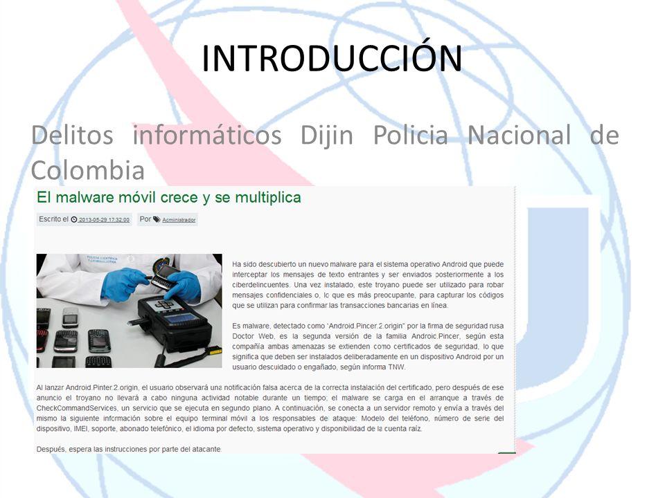 INTRODUCCIÓN Delitos informáticos Dijin Policia Nacional de Colombia