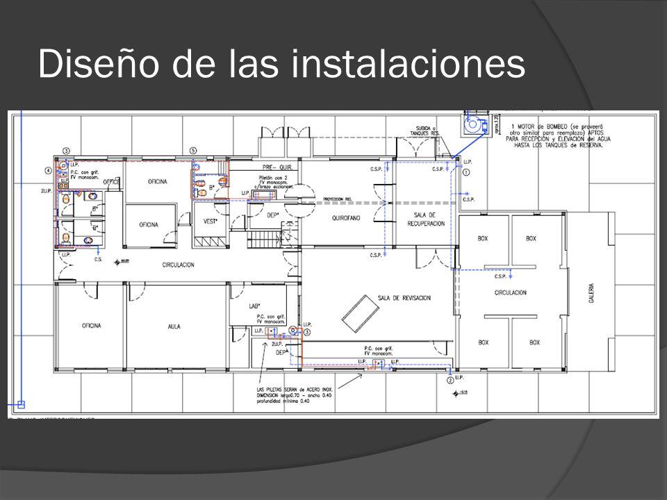 Diseño de las instalaciones