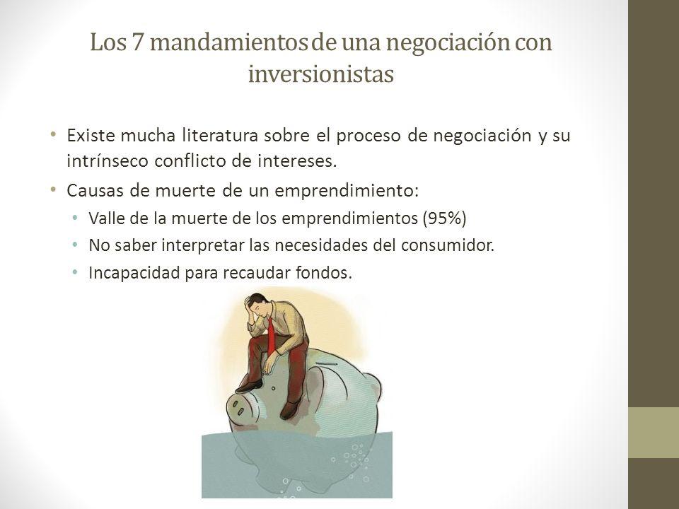 Los 7 mandamientos de una negociación con inversionistas Existe mucha literatura sobre el proceso de negociación y su intrínseco conflicto de interese