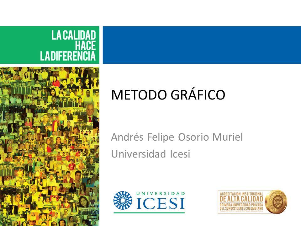 METODO GRÁFICO Andrés Felipe Osorio Muriel Universidad Icesi