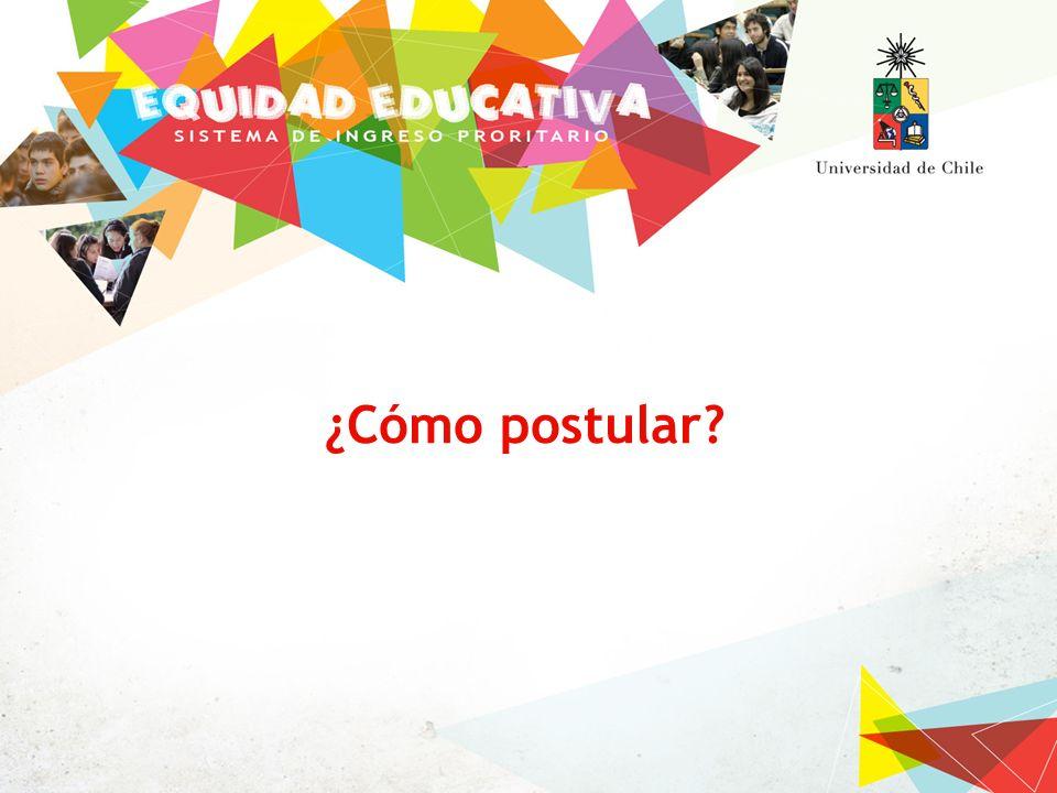 Requisitos de postulación Inscribir y rendir PSU correspondiente al año 2011 Estar cursando durante el año 2011 el cuarto año de enseñanza media.