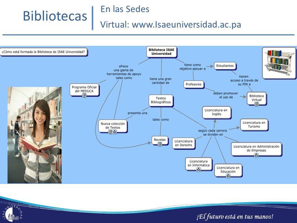 ¡El futuro está en tus manos! Bibliotecas En las Sedes Virtual: www.Isaeuniversidad.ac.pa