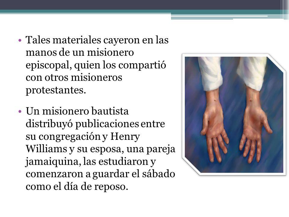 Tales materiales cayeron en las manos de un misionero episcopal, quien los compartió con otros misioneros protestantes.