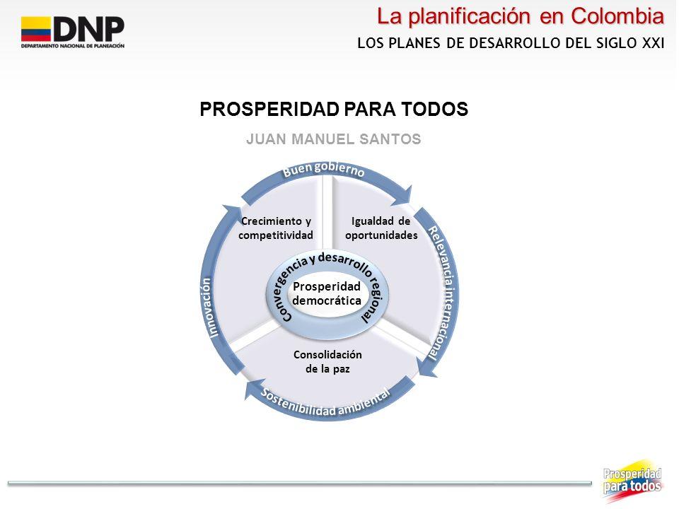 Colombia cuenta con un marco legal desarrollado en torno al ejercicio de planificación, respaldado en la Constitución Política.