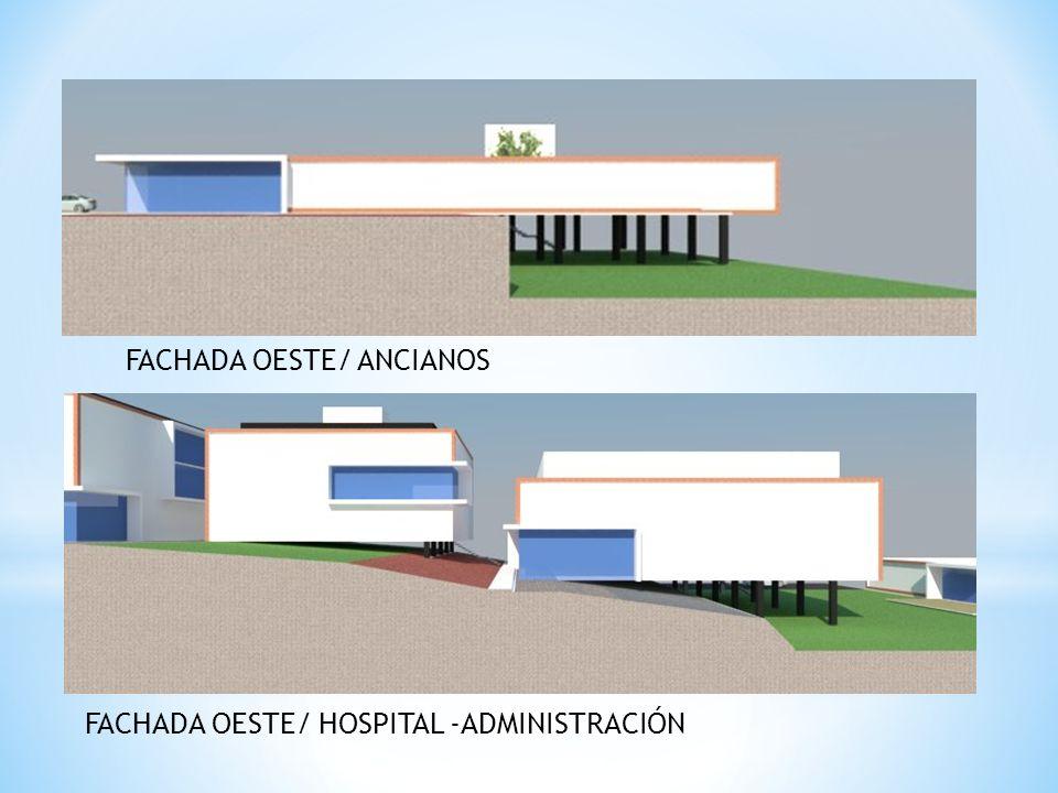 FACHADA OESTE/ ANCIANOS FACHADA OESTE/ HOSPITAL -ADMINISTRACIÓN
