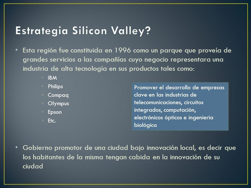 Esta región fue constituida en 1996 como un parque que proveía de grandes servicios a las compañías cuyo negocio representara una industria de alta tecnología en sus productos tales como: IBM Philips Compaq Olympus Epson Etc.