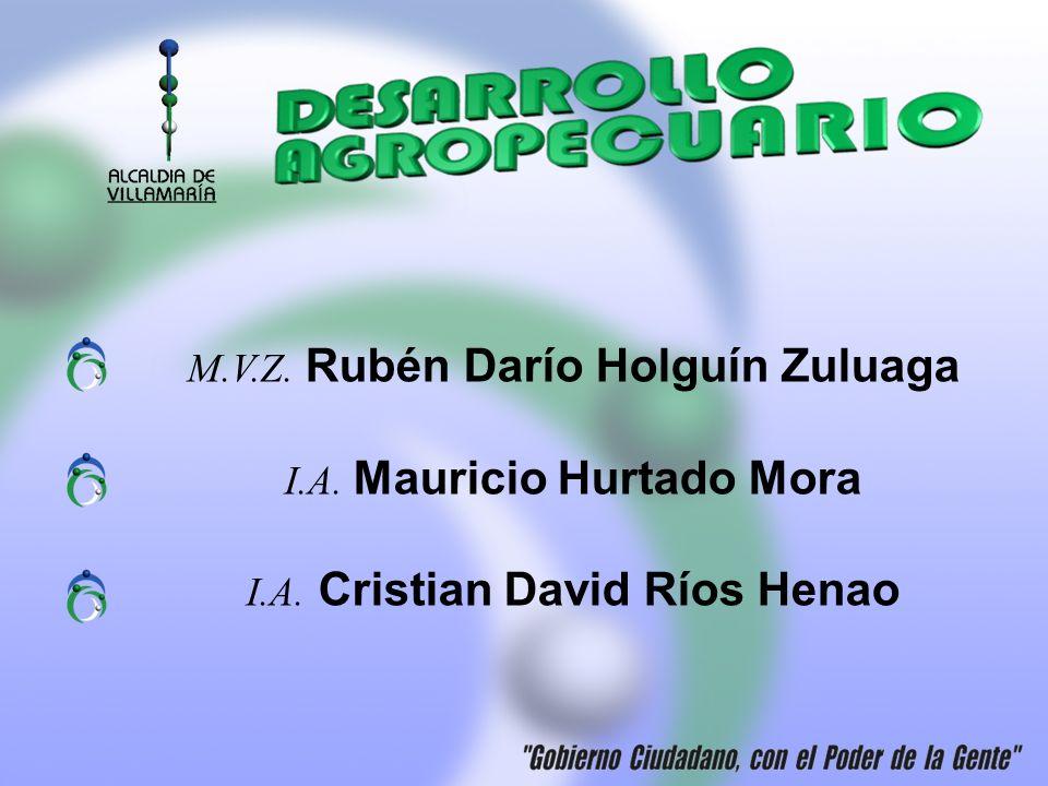 M.V.Z. Rubén Darío Holguín Zuluaga I.A. Mauricio Hurtado Mora I.A. Cristian David Ríos Henao