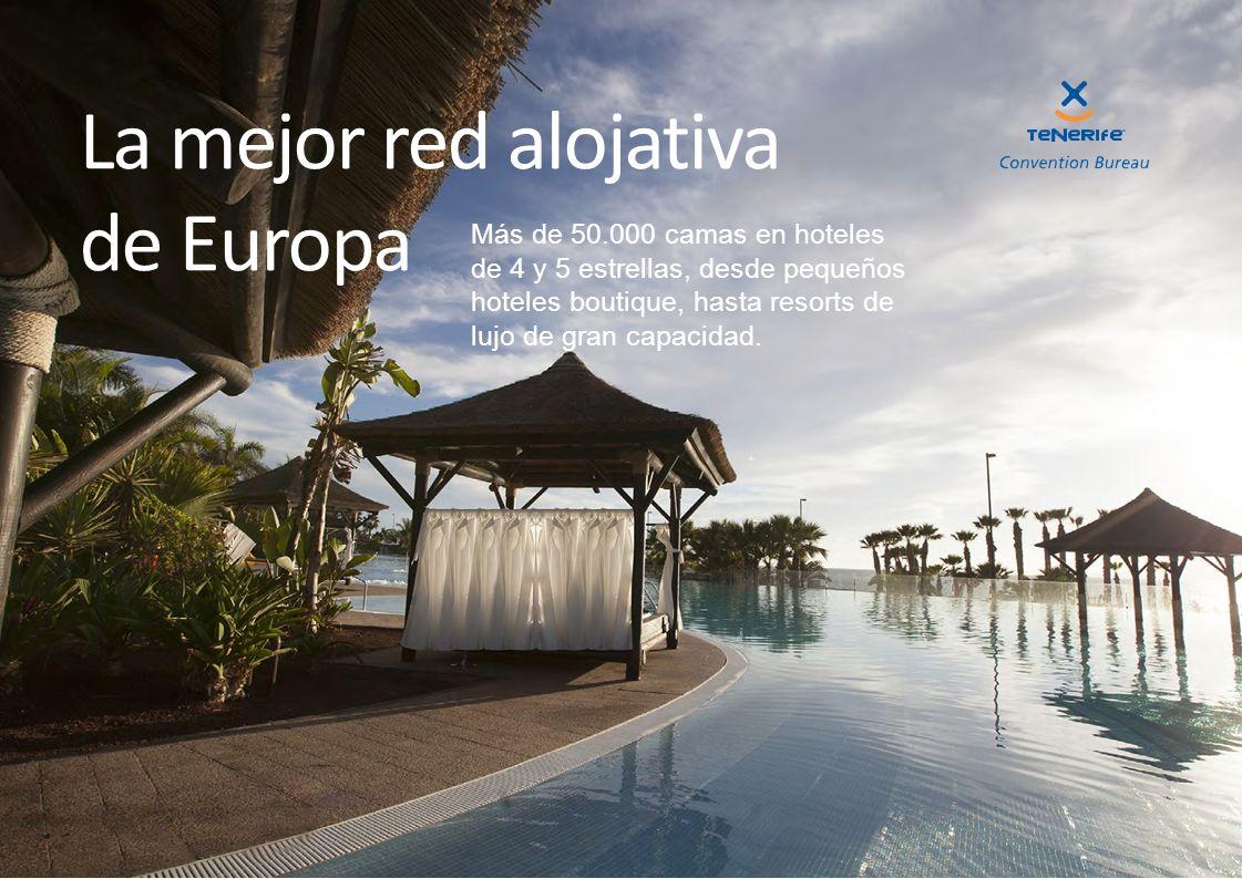 Más de 50.000 camas en hoteles de 4 y 5 estrellas, desde pequeños hoteles boutique, hasta resorts de lujo de gran capacidad. La mejor red alojativa de