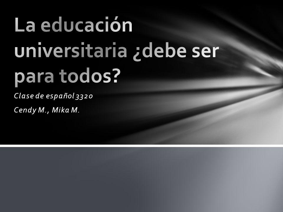 ¿Es la educación universitaria un derecho humano.