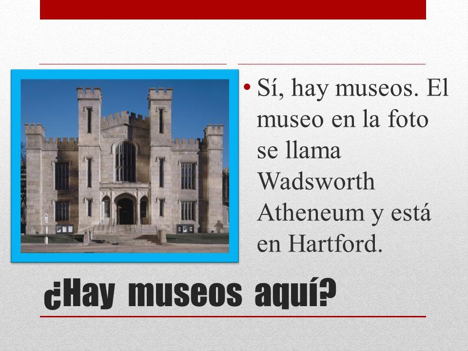 ¿Hay museos aquí? Sí, hay museos. El museo en la foto se llama Wadsworth Atheneum y está en Hartford.