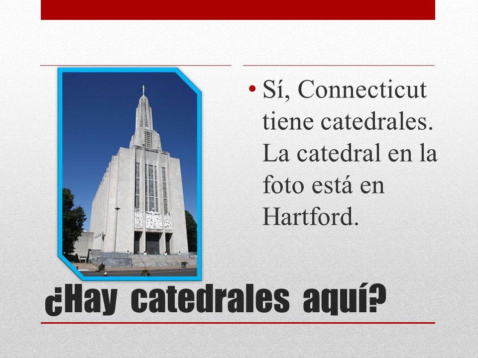 ¿Hay catedrales aquí? Sí, Connecticut tiene catedrales. La catedral en la foto está en Hartford.