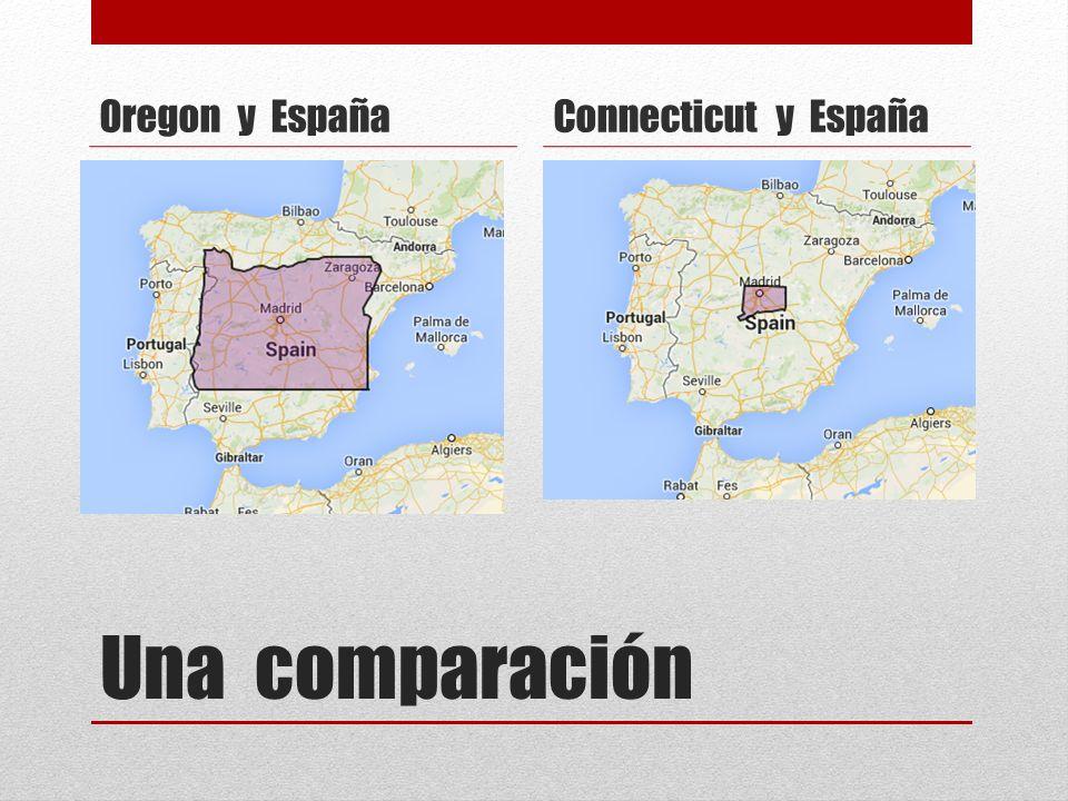 Una comparación Oregon y EspañaConnecticut y España
