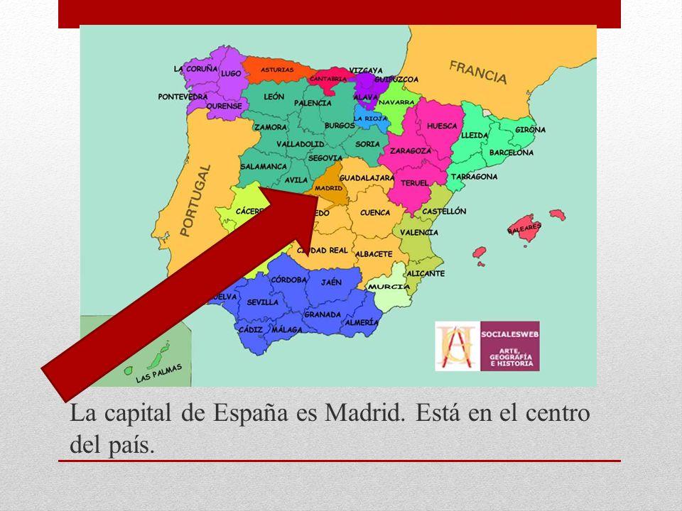La capital de España es Madrid. Está en el centro del país.