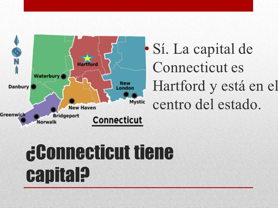 ¿Connecticut tiene capital? Sí. La capital de Connecticut es Hartford y está en el centro del estado.