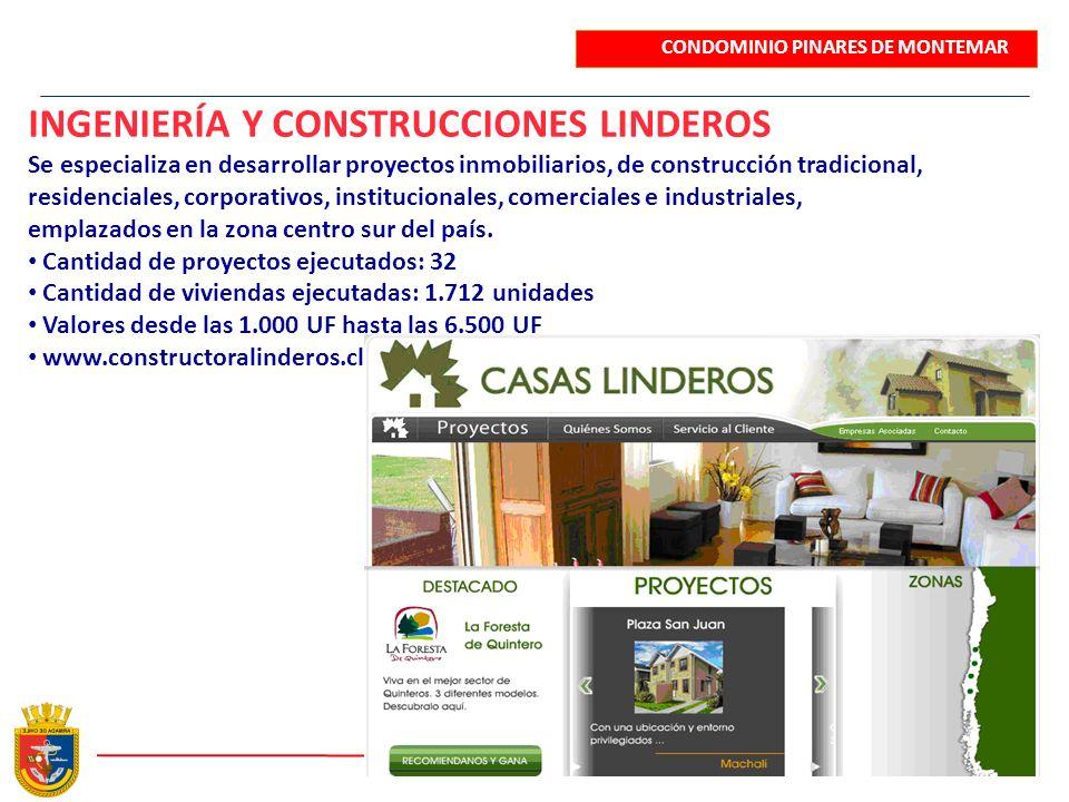 INGENIERÍA Y CONSTRUCCIONES LINDEROS Se especializa en desarrollar proyectos inmobiliarios, de construcción tradicional, residenciales, corporativos,