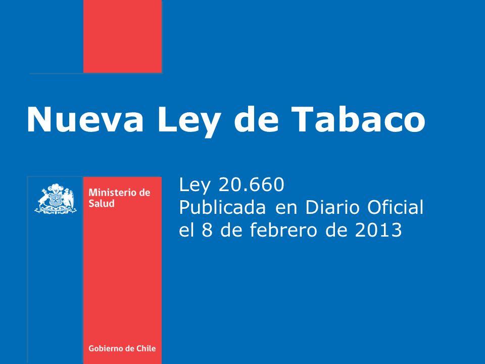 Gobierno de Chile / Ministerio de Salud Multas 1 UTM a 50 UTM 2 UTM $80.000 A la persona sorprendida fumando en lugar prohibido $40.000 a $2.000.000 Al propietario de un establecimiento por cada infractor A la persona que vende cigarrillos a menos de 100 mts de un colegio