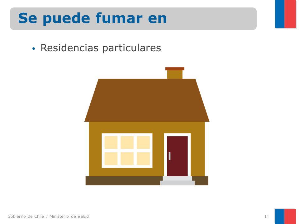 Gobierno de Chile / Ministerio de Salud Residencias particulares 11 Se puede fumar en