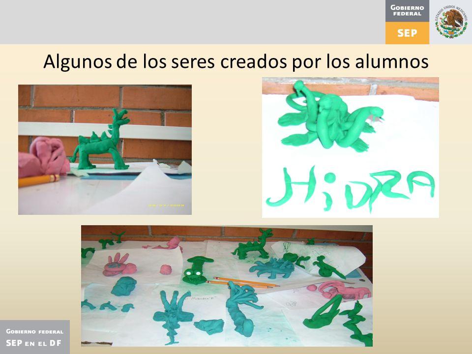Algunos de los seres creados por los alumnos