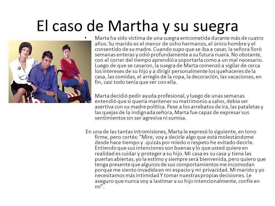 El caso de Martha y su suegra Marta ha sido víctima de una suegra entrometida durante más de cuatro años. Su marido es el menor de ocho hermanos, el ú