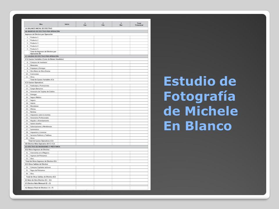 Estudio de Fotografía de Michele En Blanco