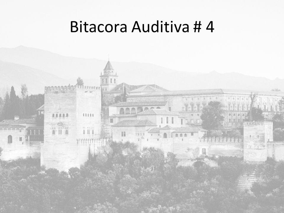 Bitacora Auditiva # 4