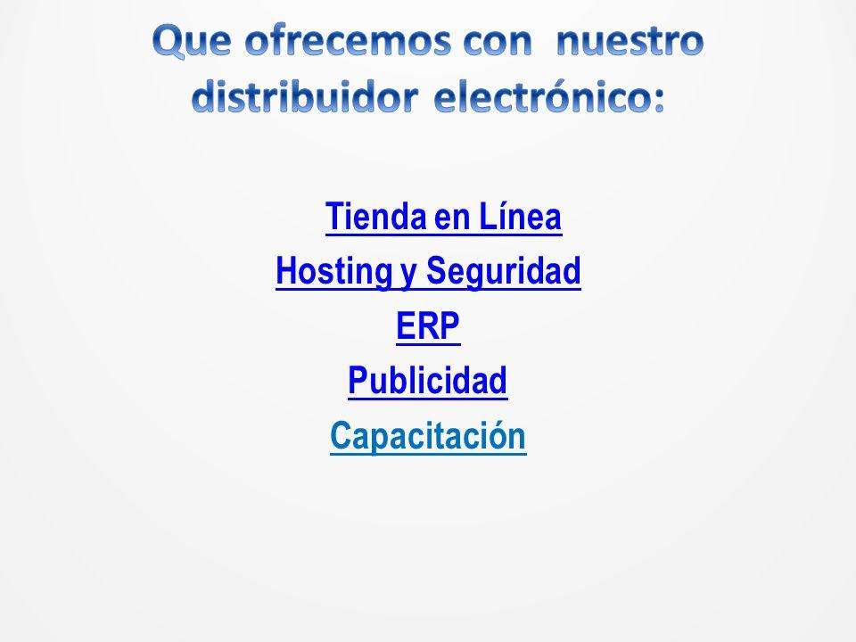 Tienda en Línea Hosting y Seguridad ERP Publicidad Capacitación