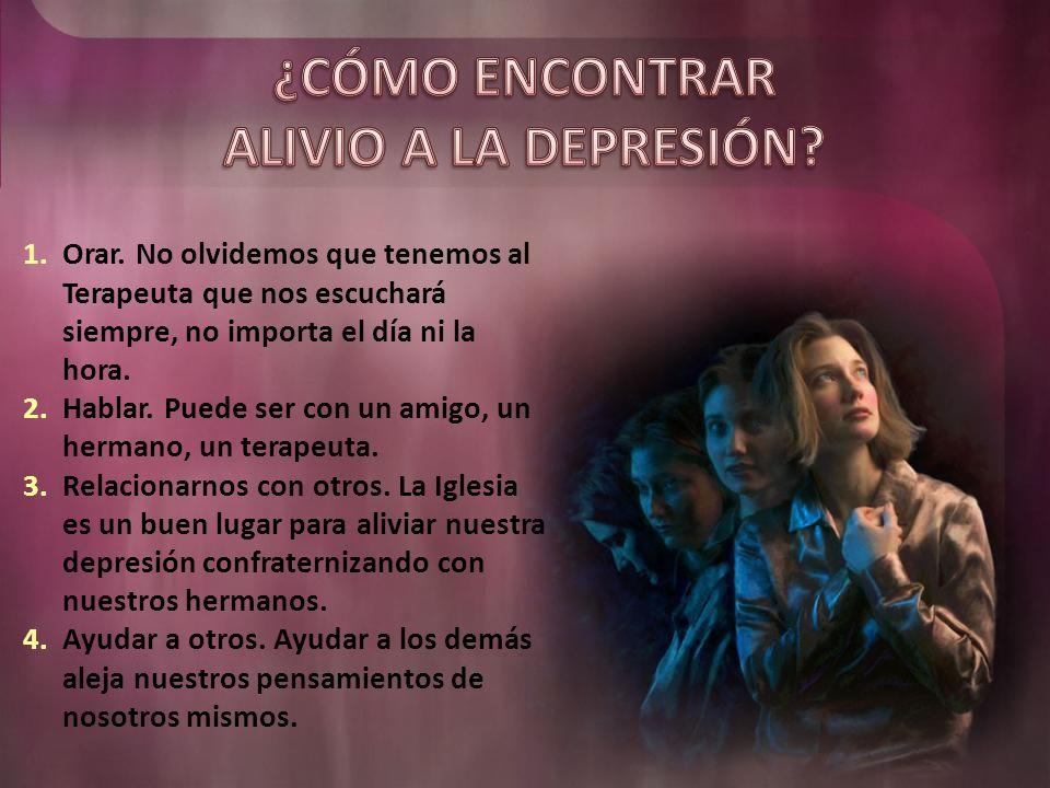 Cuando la depresión tiene un origen físico (por ejemplo, falta de algún mineral) debemos recurrir a un profesional.