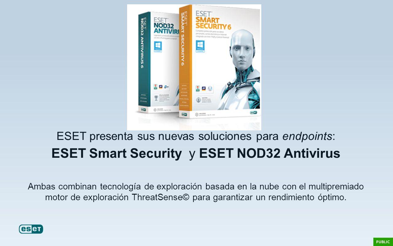 ESET presenta sus nuevas soluciones para endpoints: ESET Smart Security y ESET NOD32 Antivirus Ambas combinan tecnología de exploración basada en la n