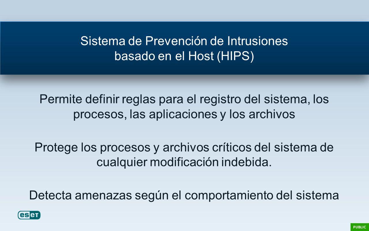 Permite definir reglas para el registro del sistema, los procesos, las aplicaciones y los archivos Protege los procesos y archivos críticos del sistem