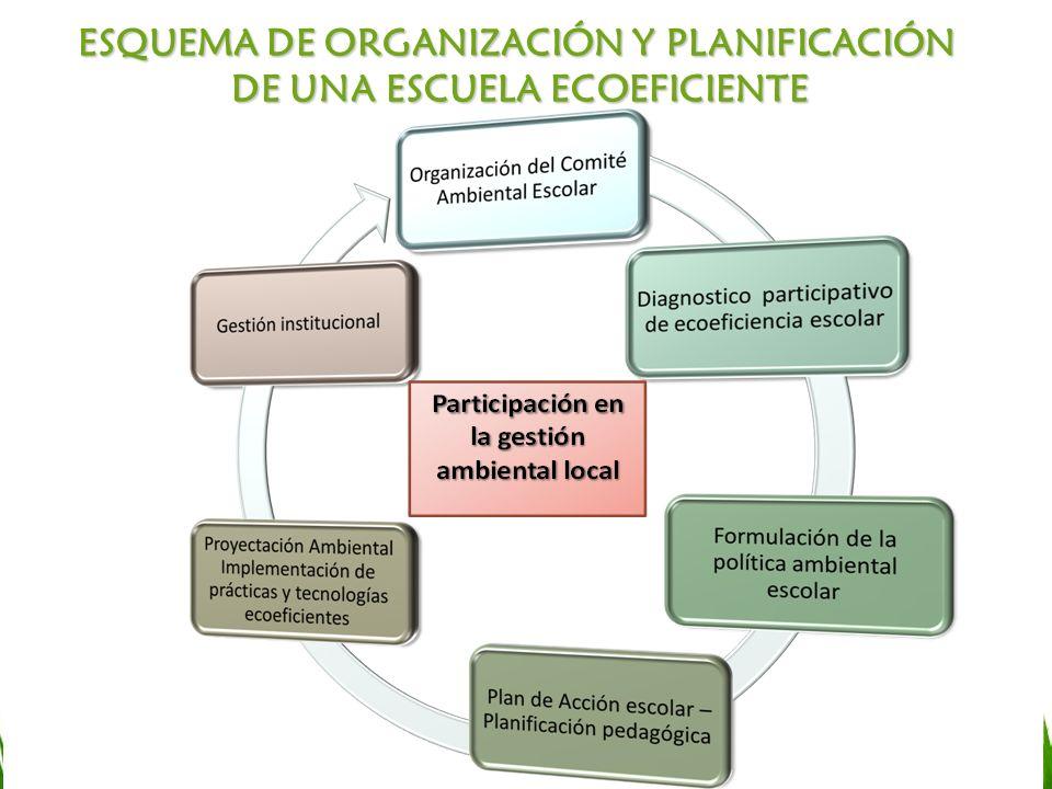 ESQUEMA DE ORGANIZACIÓN Y PLANIFICACIÓN DE UNA ESCUELA ECOEFICIENTE