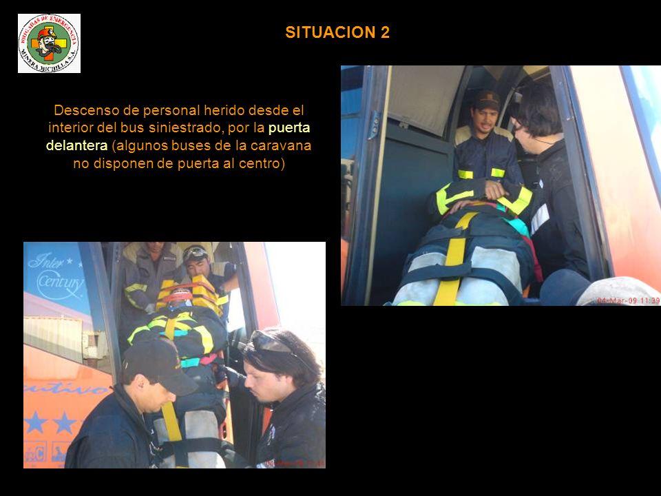 SITUACION 3 Técnicas de inmovilización de pasajero lesionado en el interior del vehículo