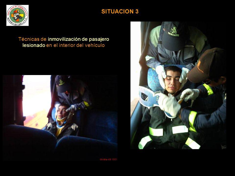 TRASLADO DE VICTIMAS Formas de traslado de accidentados en el interior de buses en caso de múltiples víctimas provenientes de otro vehículo siniestrado