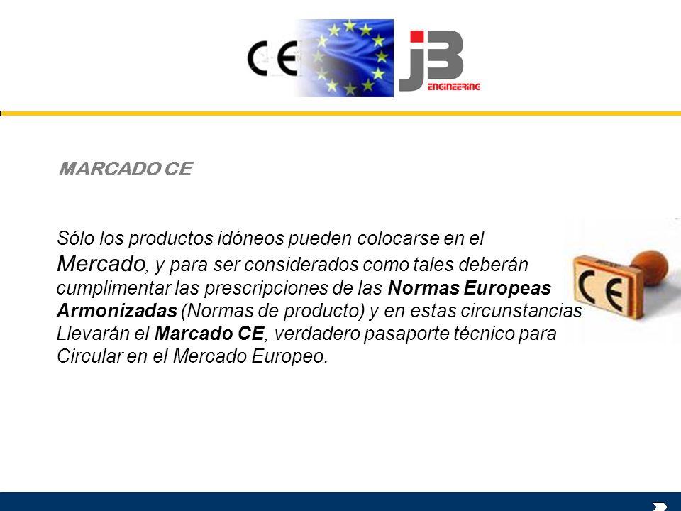 Sólo los productos idóneos pueden colocarse en el Mercado, y para ser considerados como tales deberán cumplimentar las prescripciones de las Normas Eu