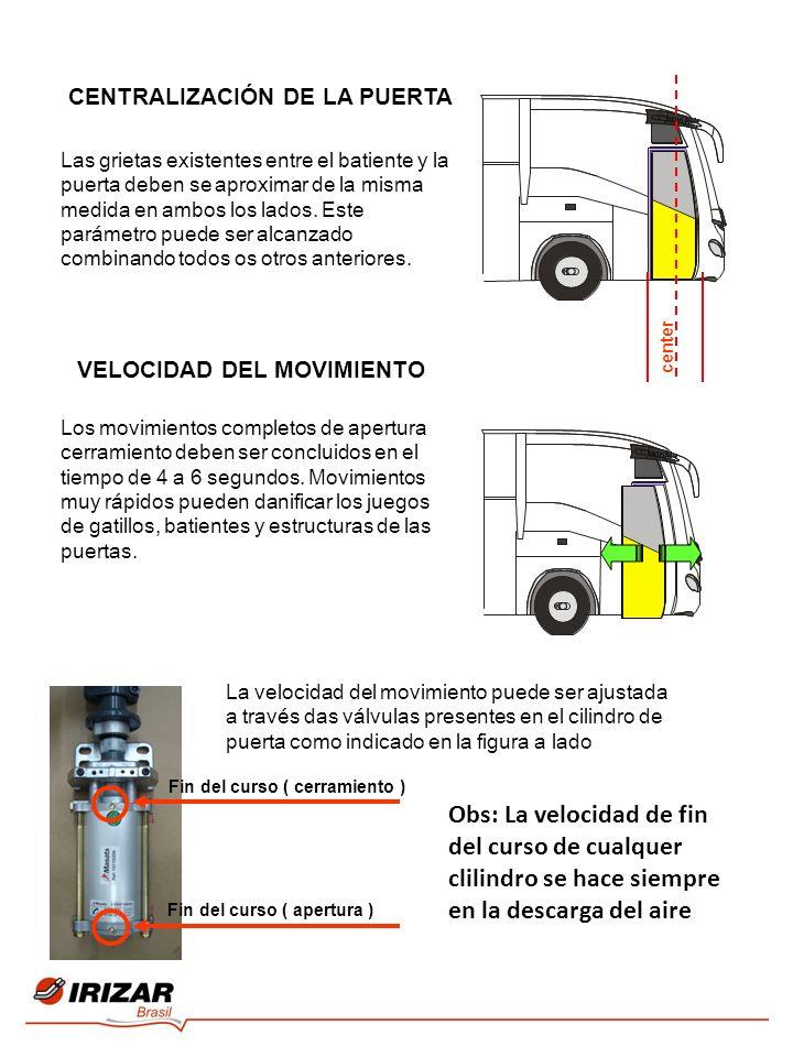 Las grietas existentes entre el batiente y la puerta deben se aproximar de la misma medida en ambos los lados.