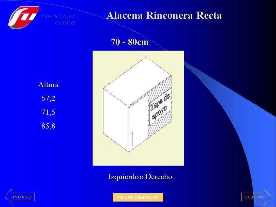 Alacena Rinconera Recta 70 - 80cm Altura57,271,585,8 Izquierdo o Derecho SIGUIENTEANTERIOR OTROS MODELOS