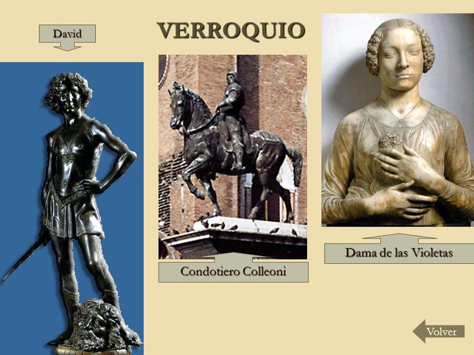 VERROQUIO VolverDavid Condotiero Colleoni Dama de las Violetas