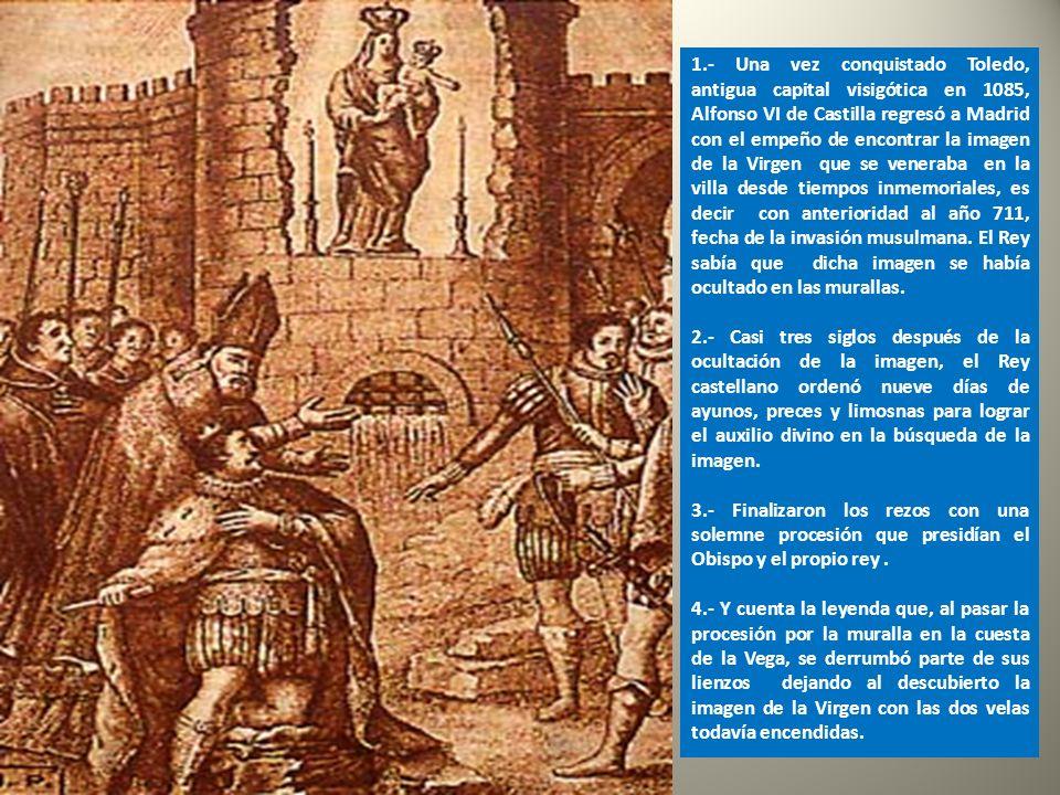 Después de la batalla de Guadalete y ante el avance de almorávides, los primeros cristianos del Madrid manchego ocultaron en un lienzo de la muralla u