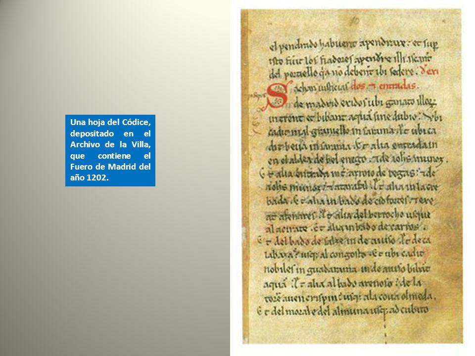 En el año 1202, Alfonso VIII, el de las Navas de Tolosa, concedió a Madrid su Fuero: un conjunto de normas que regularon la vida de la población. Un e