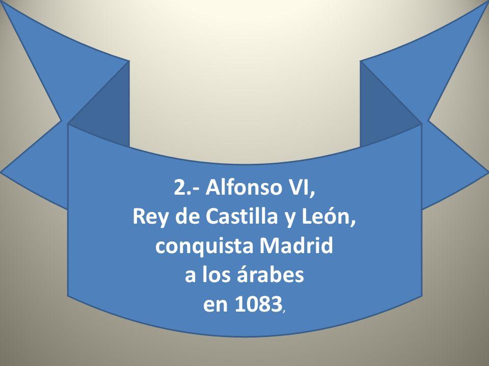 Grabado antiguo que muestra el aspecto que tuvo en su época el Alcázar construido por Mohamed I para la defensa de Madrid. Las fachadas están orientad