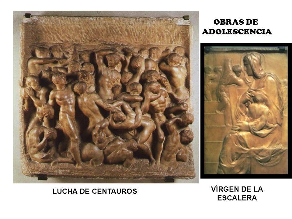 LUCHA DE CENTAUROS VÍRGEN DE LA ESCALERA OBRAS DE ADOLESCENCIA