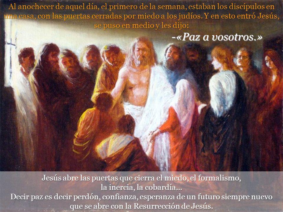 Juan 20, 19-31. II domingo de Pascua –C- Vivimos resucitad@s, sin miedo, en paz, con alegría, porque tenemos misión, porque Jesús está en medio de nos